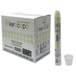 Copo Kerocopo Branco, 150ML Caixa c/ 2.500 unidades.