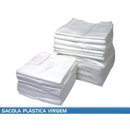 Sacola Branca Virgem (Kg) Medida 30x40, Pacote c/ 05 Kg.