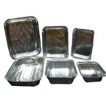 Marmitex Alumínio Retangular 650ml, Caixa c/ 100 unidades