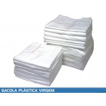Sacola Branca Virgem (Kg) Medida 25x35, Pacote c/ 05 Kg.